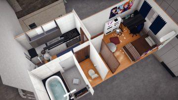 1K - Studio apartment